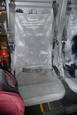 オスプレイ内部の座席1